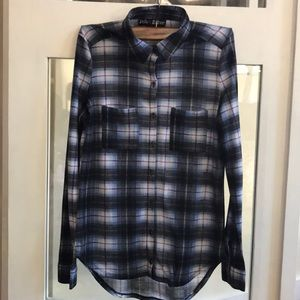 🤩 Polly & Esther Plaid Button Down T shirt